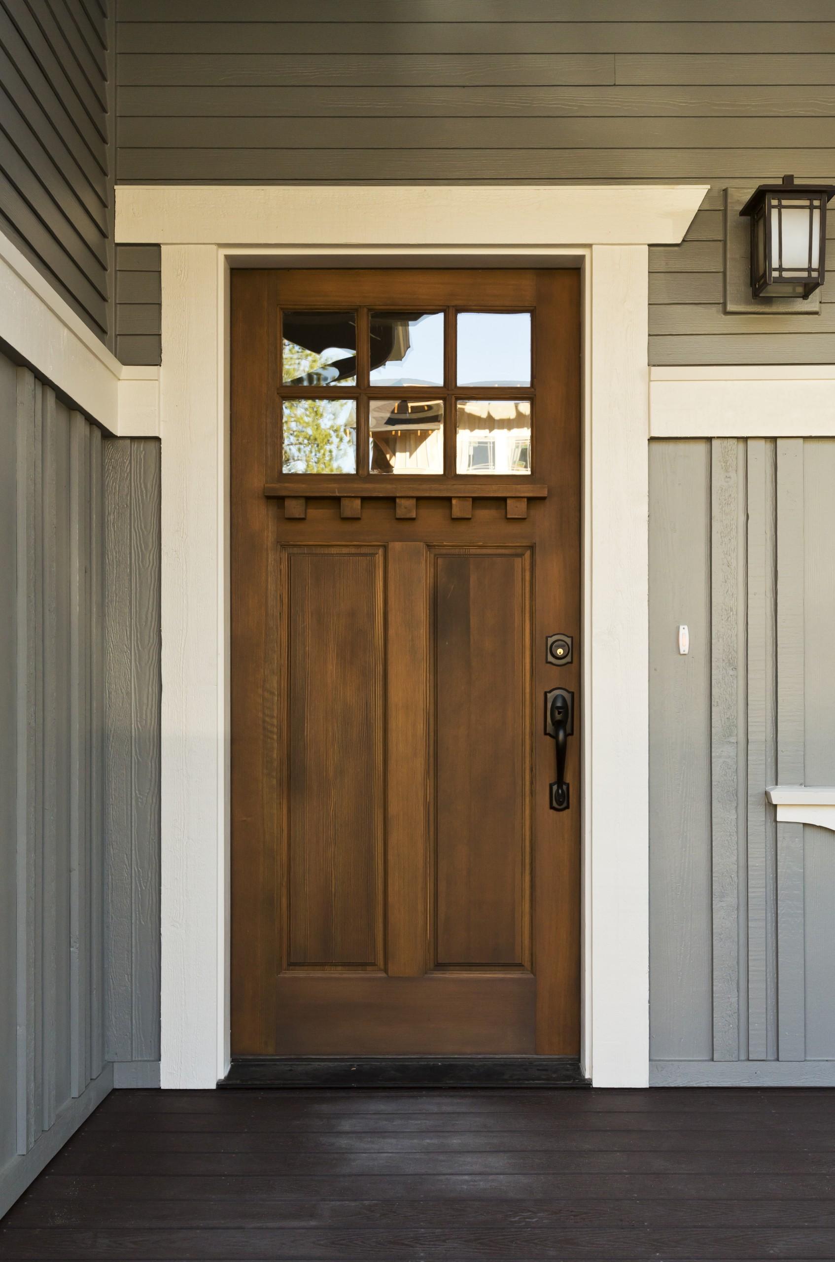 Dark Wooden Front Door