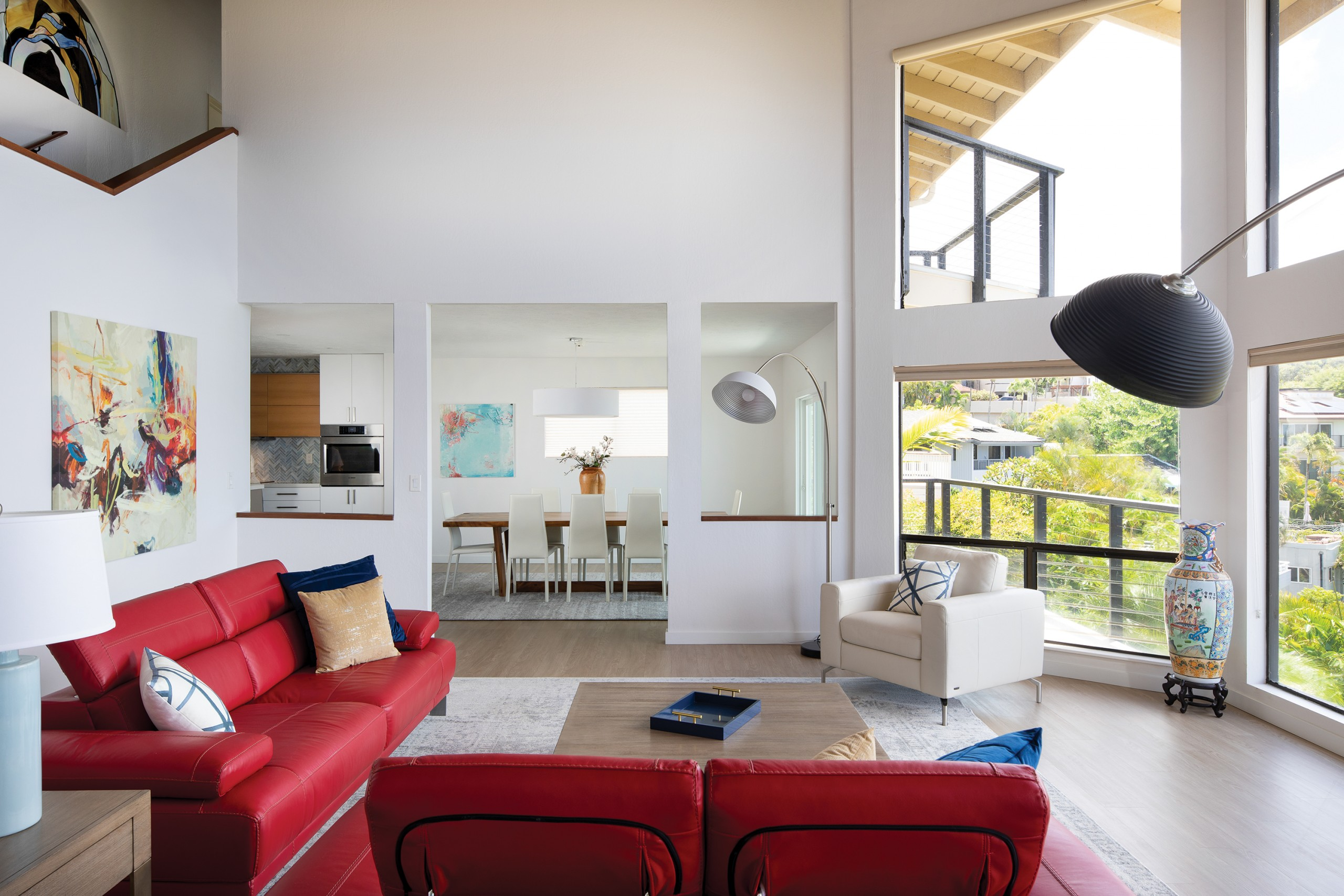 bright, airy and modern living room